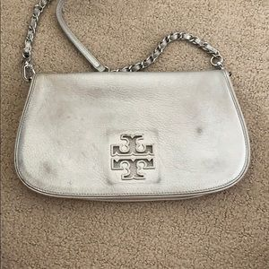 Tory Burch Silver Flap Bag